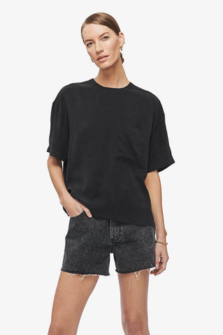 Anine Bing TEAGAN TOP IN BLACK