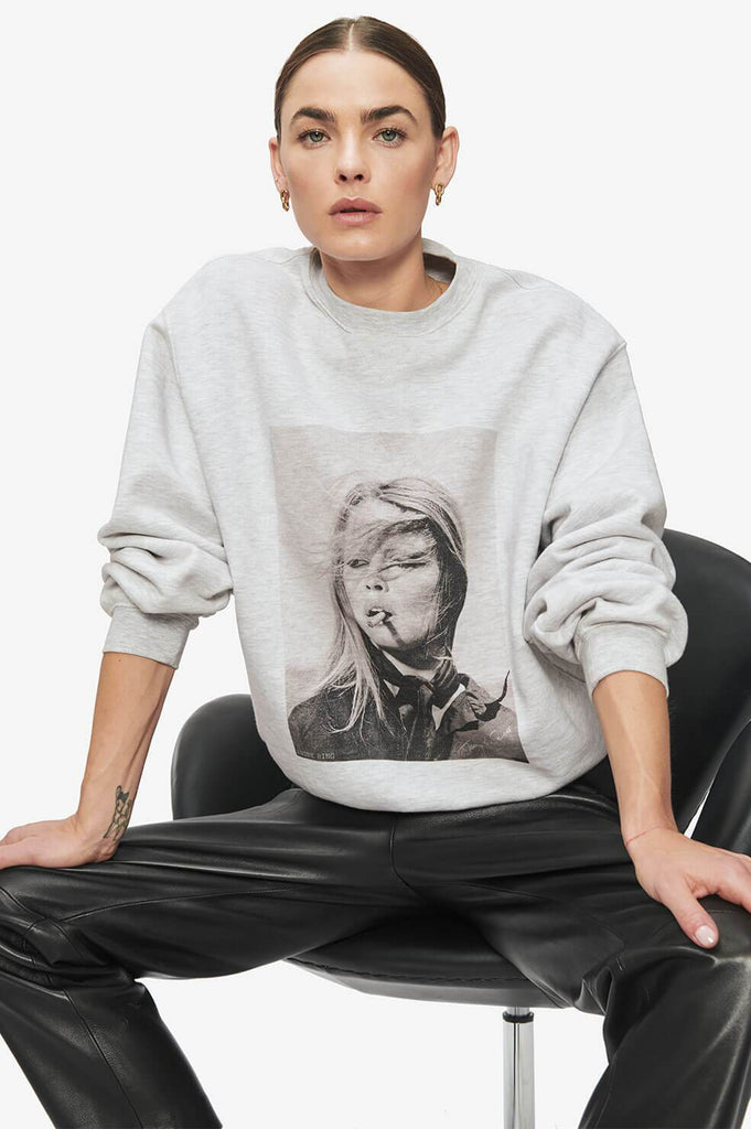 Anine Bing RAMONA SWEATSHIRT AB X TO - HEATHER GREY