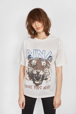 Anine Bing TIGER TEE - WHITE
