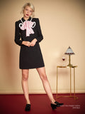 [Sister Jane] 2018 Pre Spring Pink Ribbon Black Dress