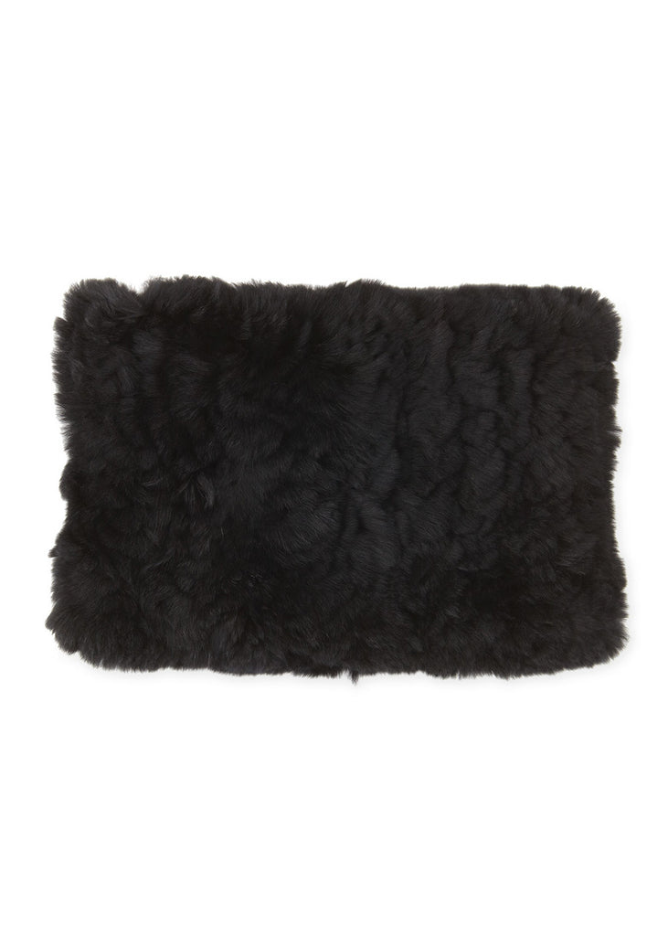 [525 America] Real Rabbit Fur Neck Warmer - Black