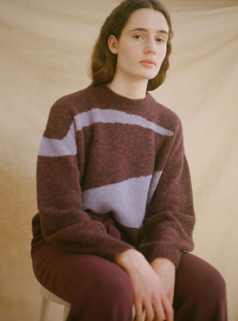 Paloma Wool Vega Sweater Dark Mauve
