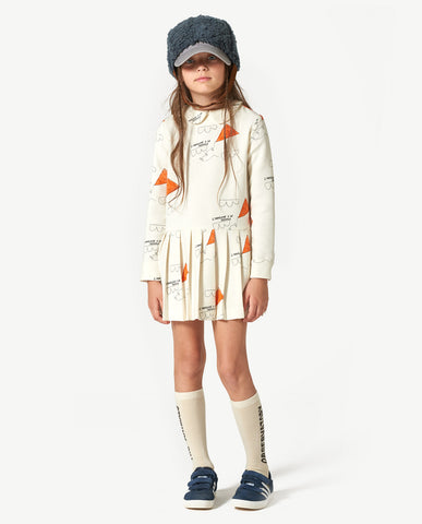The Animals Observatory TAO White kites Canary Kids Dress