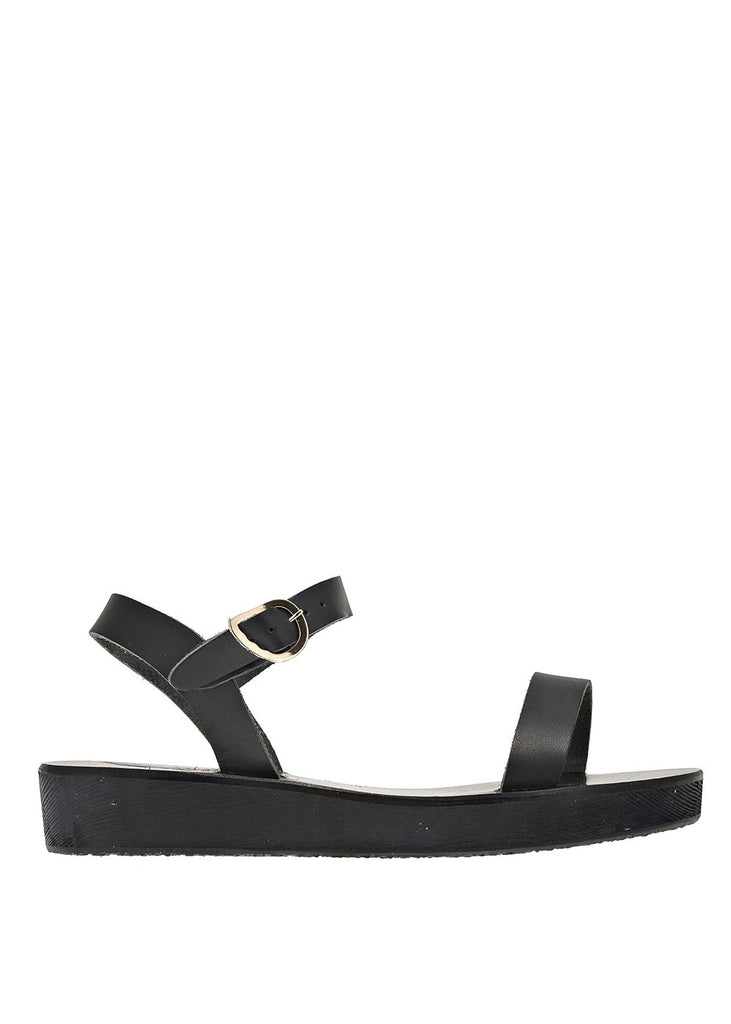 Ancient Greek Sandals Drama Flaform Sandal - Black