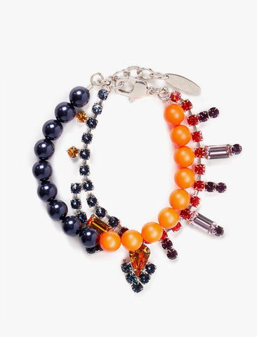 [Joomi Lim] Crystal Bead Bracelet - Orange/Black