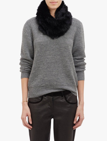 Jocelyn Rabbit Knitted Cowl Black