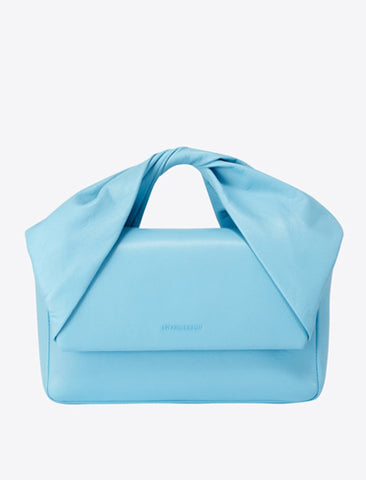 J.W.ANDERSON Twisted Leather Clutch Bag - Baby Blue