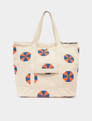 The Animals Observatory Canvas Tote Umbrellas - Orange