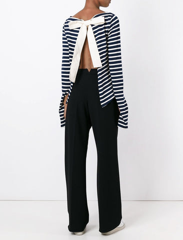 Jacquemus Open Back Stripe Jersey Top