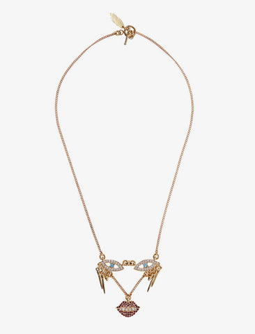 [Lulu Frost] Gold-Tone Crystal Dada Necklace