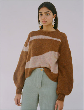 Paloma Wool Vega Sweater Brown