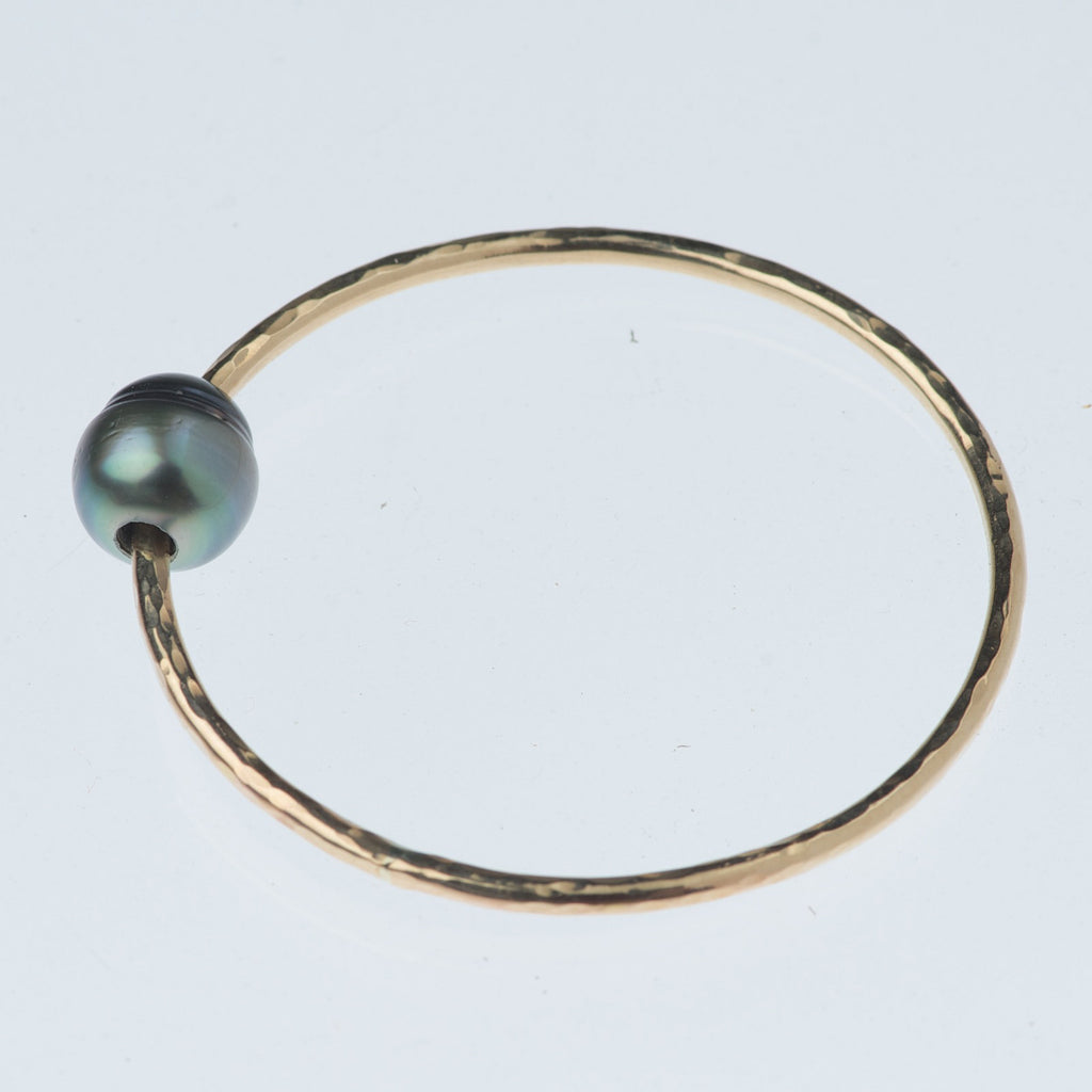 Tahitian Pearl Gold Bangle Bracelet~Mini