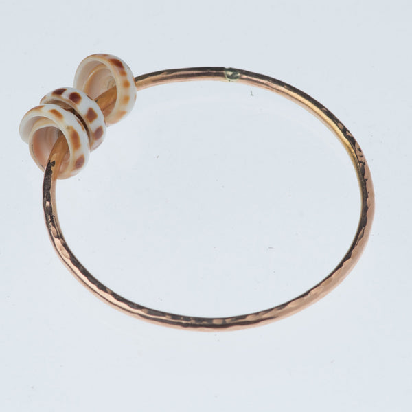 Tiger Puka Shells Bangle~Mini