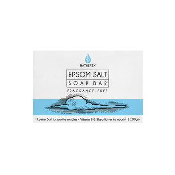 BATHEFEX EPSOM SALT SOAP BAR - Fragrance Free