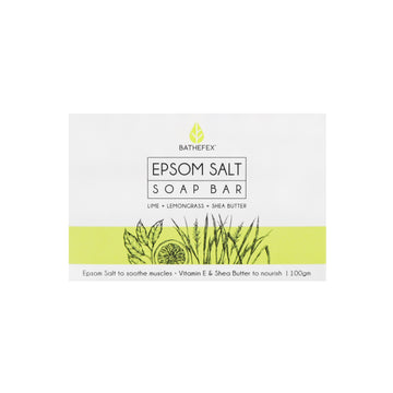 Bathefex Epsom Salt Soap Bar Lime + Lemongrass