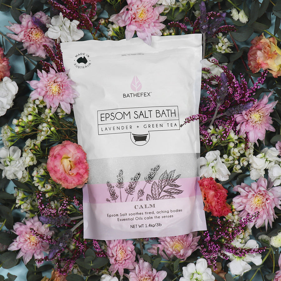 Bathefex Epsom Salt - Lavender + Green Tea 1.4kg