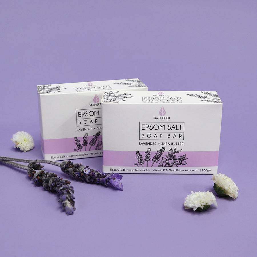 Bathefex Epsom Salt Soap Bar - Lavender