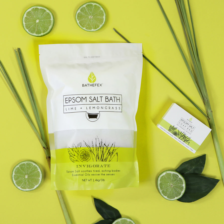 Bathefex Lime and lemongrass bundle