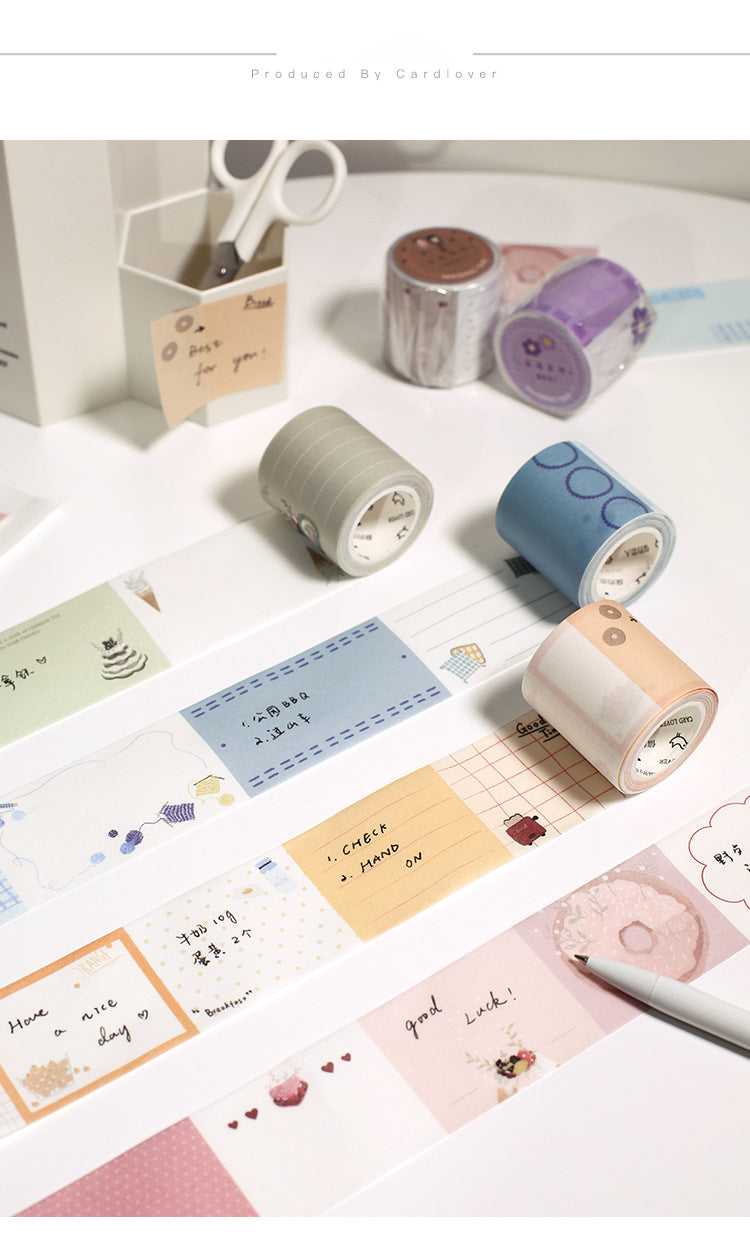 Thoughts Notes Washi Tape Set