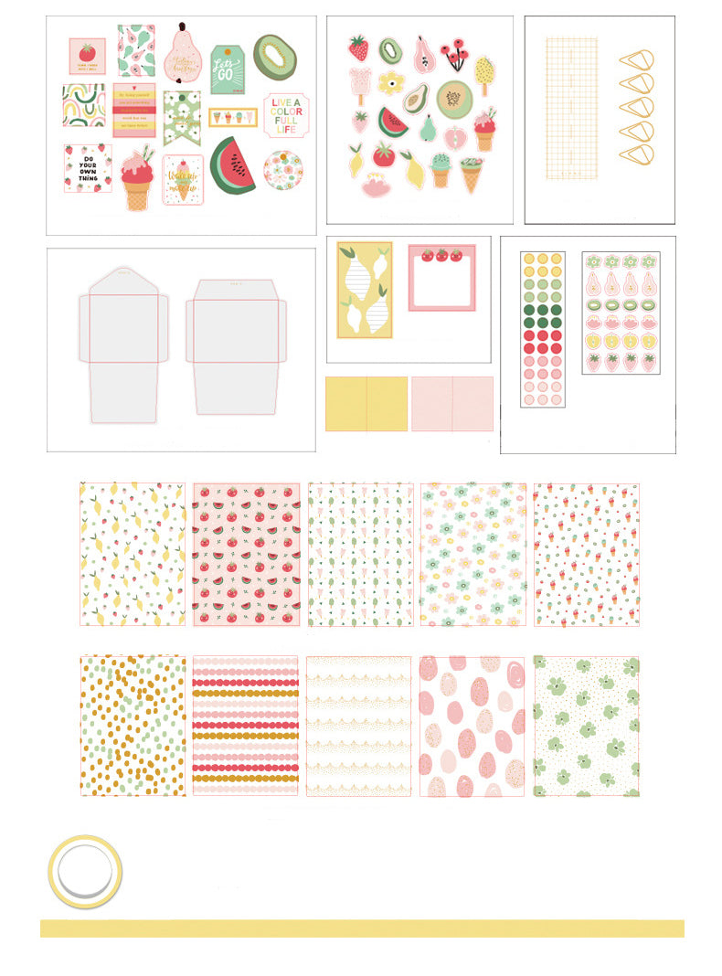 Colorful Floral Journal Spread Package
