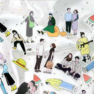 Daily Life Cartoon Stickers - WashiGami