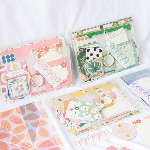 Colorful Floral Journal Spread Package - WashiGami