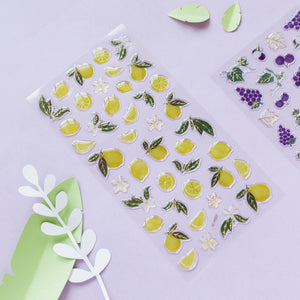 Fresh Fruists Crystal Stickers - WashiGami