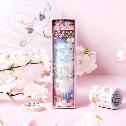 Sakura Fan Dance Washi Tape Set - WashiGami