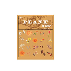 Retro Plant Stickers - WashiGami