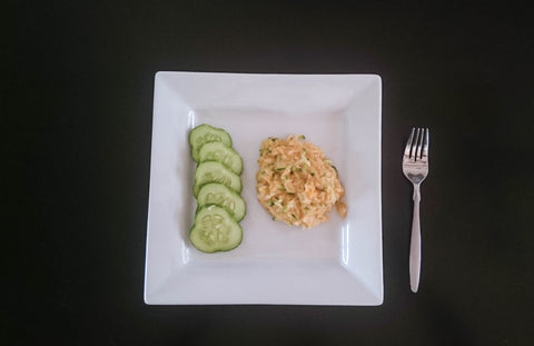 rice and cucumbers