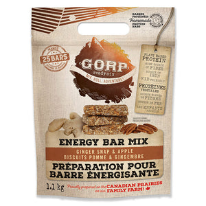 GORP Clean Energy Bar Ready Mix bag.  Ginger Snap and Apple. 1.1kg bag