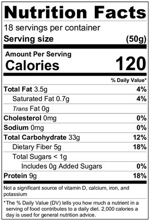 GORP Oatmeal Blend - JUST OATS - GORP Clean Energy Bar nutrition facts