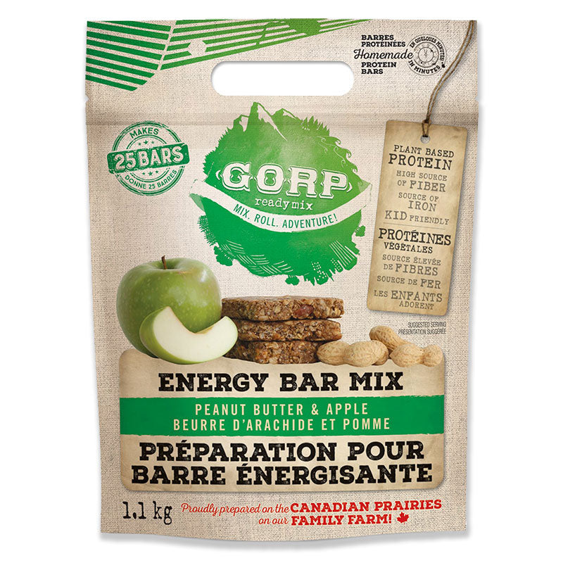 Peanut Butter Apple GORP Energy Bar Ready Mix.  1.1kg bag