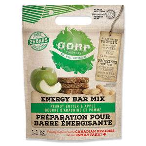 GORP Clean Energy Bar Ready Mix bag.  Peanut Butter & Apple. 1.1kg bag