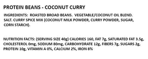 coconut curry roasted bean chips ingredients and nutrition facts