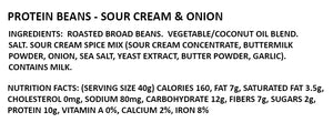 Sourcream & Onion Protein Chips Ingredients and Nutrition Facts panel