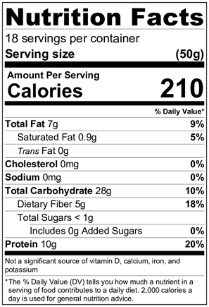 GORP Oatmeal Blend - Roasted Nuts, Flax & Seeds - GORP Clean Energy Bar nutrition facts