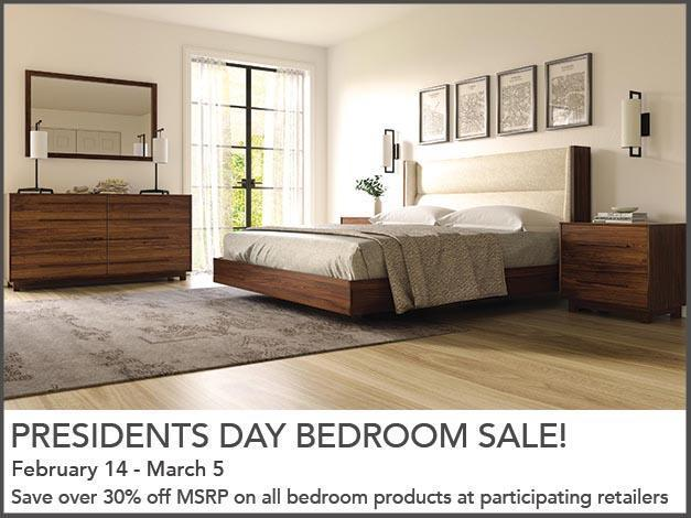 Quality furniture manufacturer offering President's Day Specials through March 5
