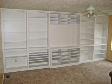 Built in Entertainment Center and Bookcases