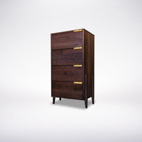 Solid Wood Dresser- Oak, Maple, Cherry, Walnut- Apollo Tall Dresser
