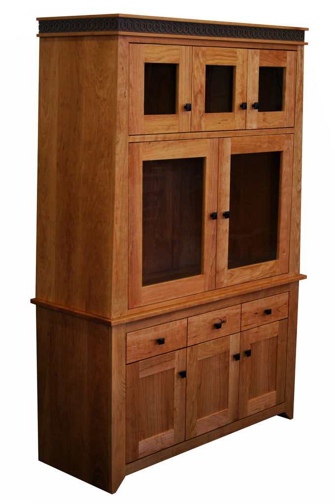 Messinger Hutch Solid Wood Handmade Organic