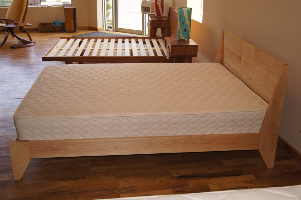 Maple platform bed modern