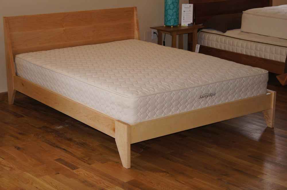 Handmade solid wood platform bed modern