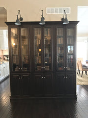 Built in Bookcases for Dublin Ohio home With Glass doors