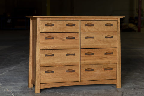 Enso 6 Drawer Dresser Solid Wood Handmade Organic
