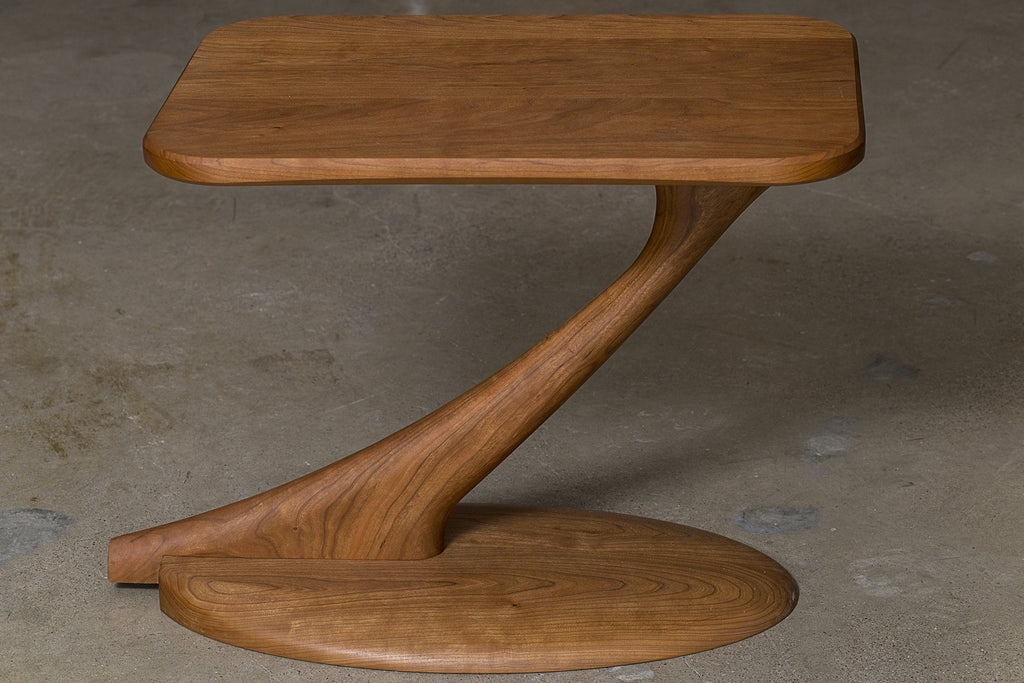 Cantilever Console Table Solid Wood And Handmade In The Usa