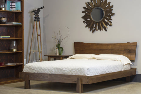 Solid Wood Bed- Cherry, Walnut, Maple, White Oak- Horizon Platform Bed