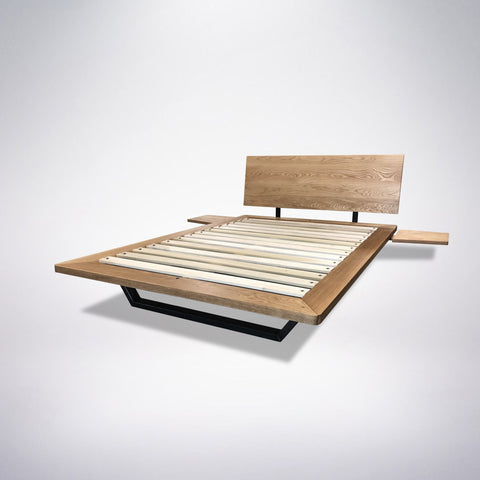 Solid Wood Platform Bed Frame Headboard - Nelson