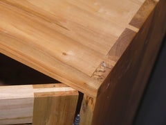 Custom Hand Cut Dovetail and Wood cabinet joinery details