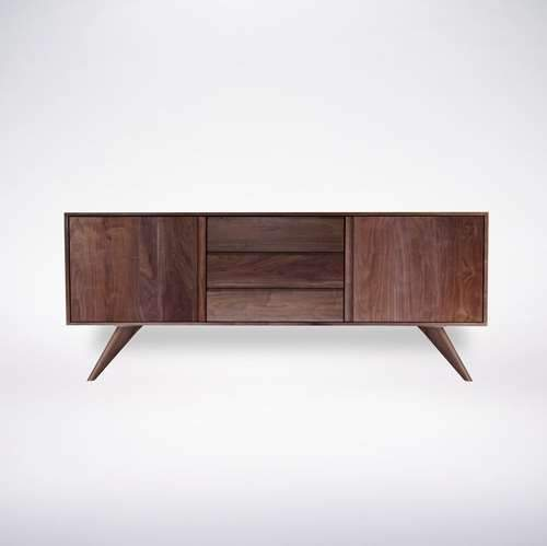 Modern Credenza Buffet Solid Wood Modern Furniture